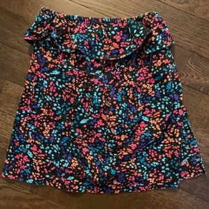 BILLABONG strapless ruffle top in floral print